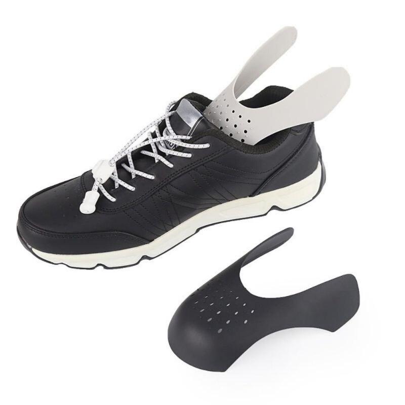 8pcs Black Sneaker Shields Protectors Toe Box Anti Crease Wearable Inserts