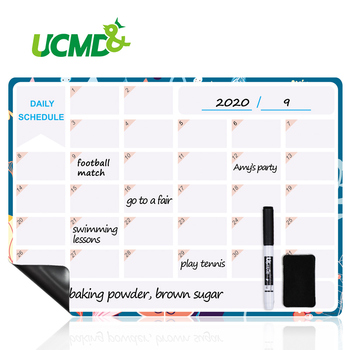 Magnetic Monthly Daily Schedule Calendar Reusable Erasable Fridge Magnets Whiteboard Sticker Message Board Home Office School monthly schedule design wall sticker
