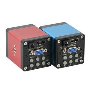 Image 4 - แนวตั้งซูม3.5X 90X Simul Focalกล้องจุลทรรศน์สเตอริโอTrinocular + HDMI VGA 14MPกล้องจุลทรรศน์กล้องสำหรับPCBบัดกรี