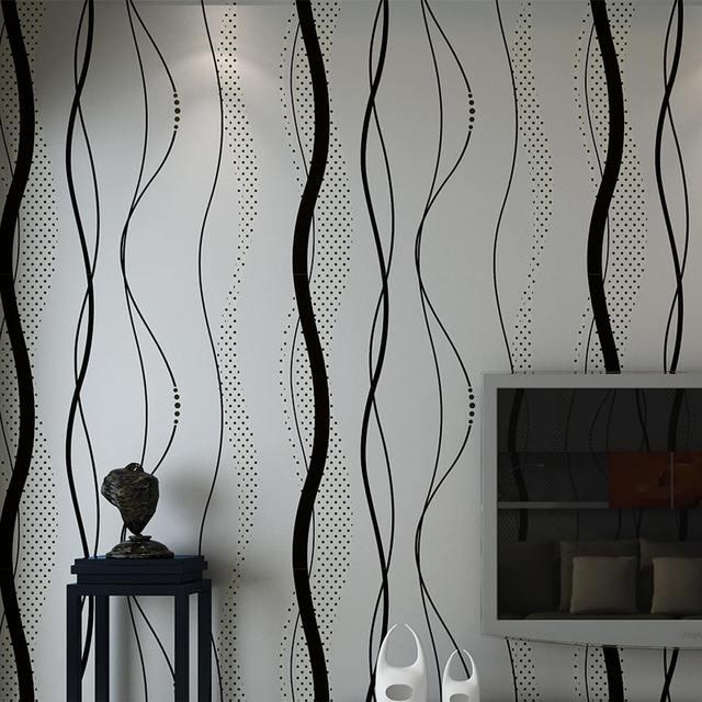 3D Nicht woven Kurve Streifen Tapete Rolle Wohnkultur Wohnzimmer Schlafzimmer Wand Beläge Silber Floral Luxus Wand Papier