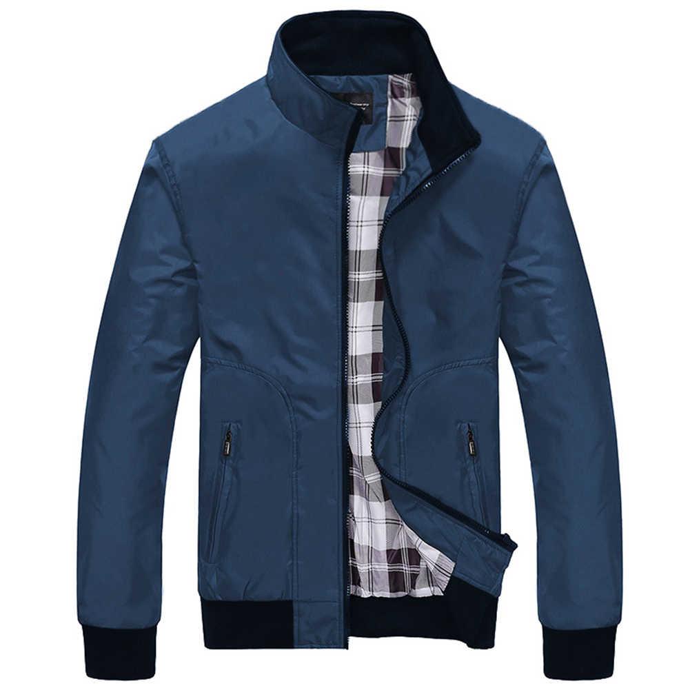 겨울 자켓 남자 폭격기 재킷 패션 대비 색 캐주얼 스탠드 칼라 긴 소매 야구 유니폼 재킷 코트