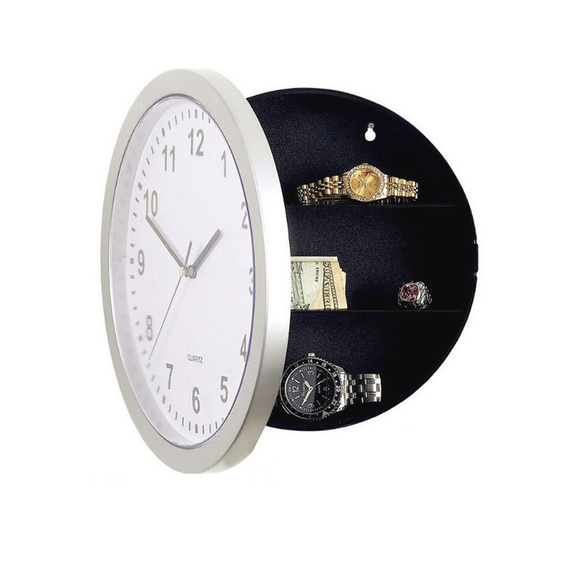 New Hidden Secret Stash Safe Box Creative Wall Clock Safe Money Container Mechanical Storage Box Plastic Jewelry Money