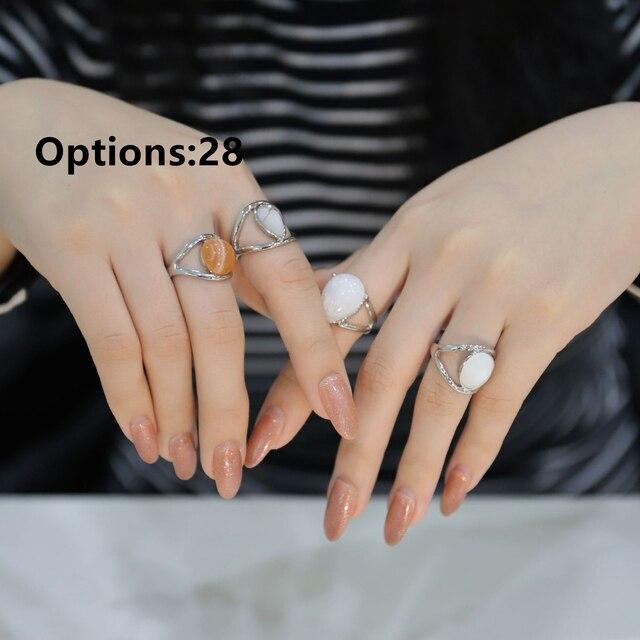 HZ 2019 Vintage Sommer 8 Teile/satz Fee Freunde Bunte Stein Metalic Mode Finger Ringe Korea Hit Ringe für Frauen Mädchen party