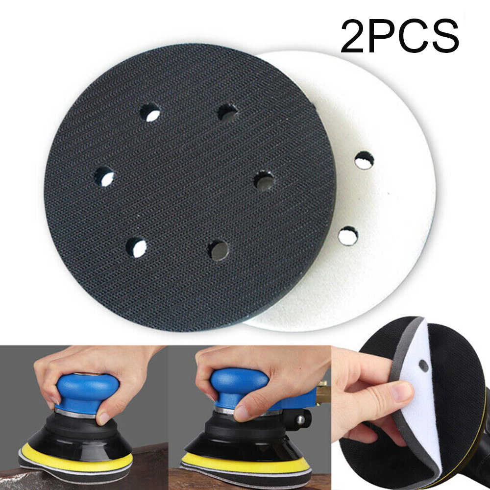 2pcs/Set Sanding Polishing Pads Interface Supplies 6-Holes Soft Sponge Disc Finishing 6inch 150mm Abrasive Tools