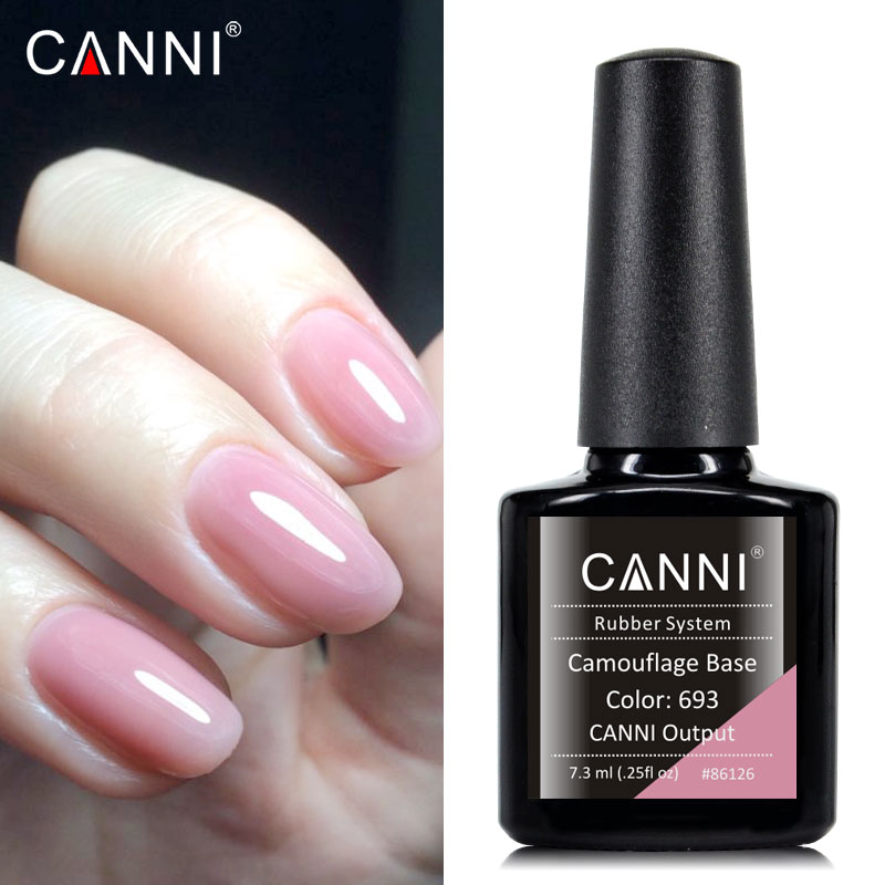 CANNI Supply New Arrival Soak Off Gelpolish Color Lacquer Storng Led Long Lasting Nude Pink Camouflage Rubber Basecoat Nail Gel