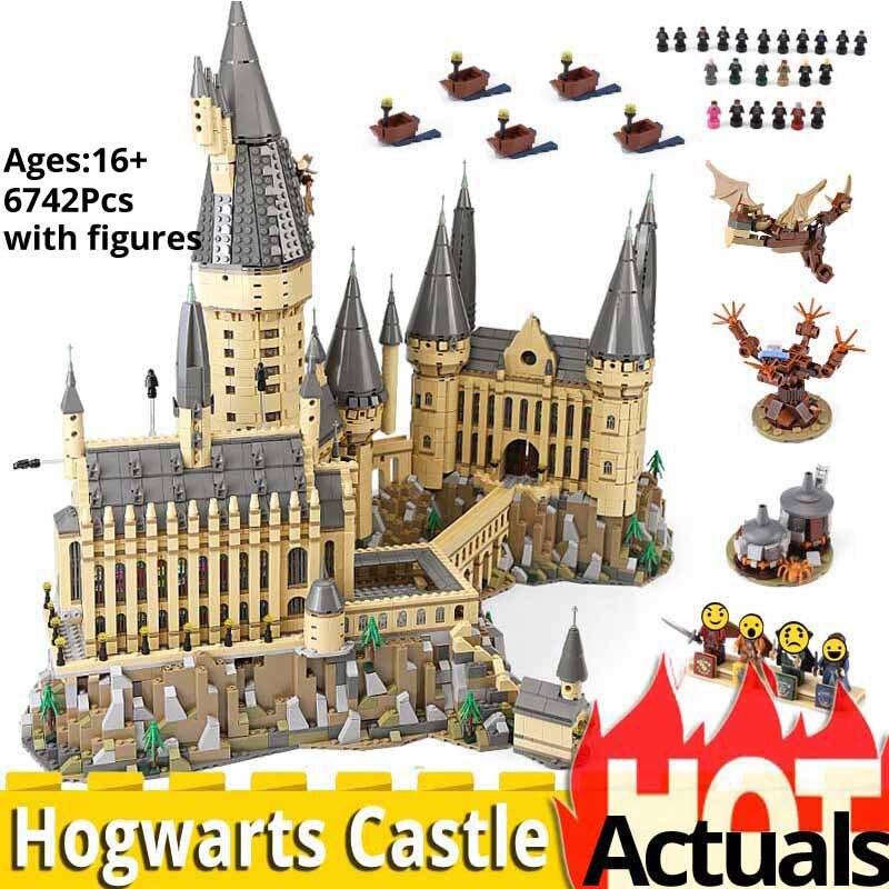 6742 pces harryinglys magia castelo escola compatível com legoinglys 71043 casa blocos de construção tijolos brinquedos natal pottering