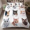 HELENGILI 3D комплект постельного белья с рисунком кота набор пододеяльников с наволочкой набор домашнего текстиля # YC-100