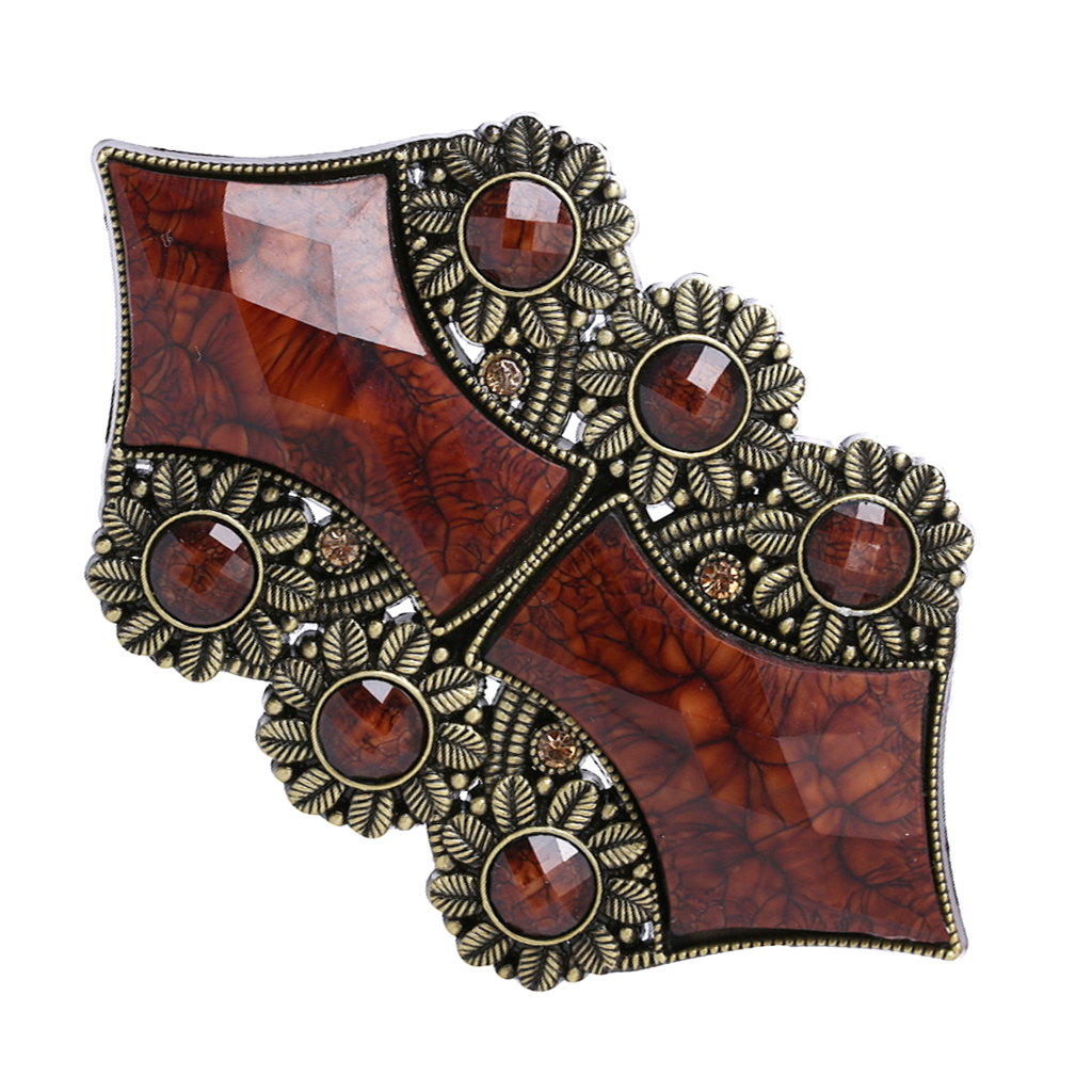 Alloy Beaded Belt Buckle Western Cowboy Boho Jeans Accessory For Women Or Men