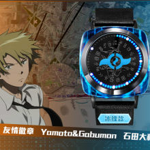 Cartoon Digimon Adventure Tri. Digitale Monster Moed Led Horloge Digivice Waterdichte Touch Screen Horloge Cosplay Props(China)