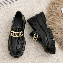 2021 Women Flats Lolita Mary Jane Shoes For Woman Spring Platform Ladies Loafers Vintage Soft Slip On Chain Oxford Shoes