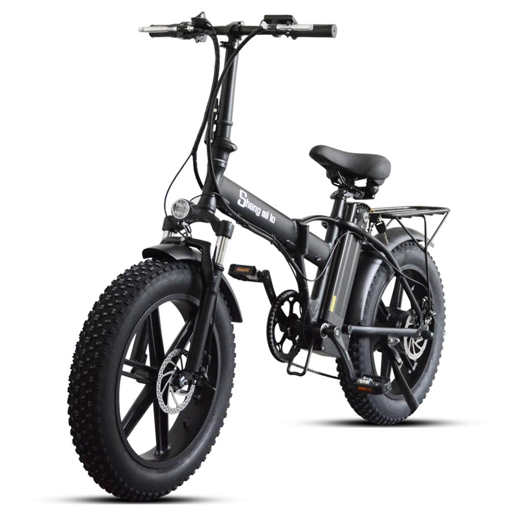 Sheng milo vélo électrique ebike 48V500W VTT électrique vélo pliant électrique 4.0 gros pneu 48V15AH batterie au lithium