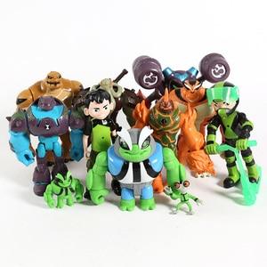 Image 5 - Figuras de acción de Humongousaur Rath Vilgax, juguetes para niños, regalos, 11 unidades/juego, Ben Grey Matter, Heatblast, PVC