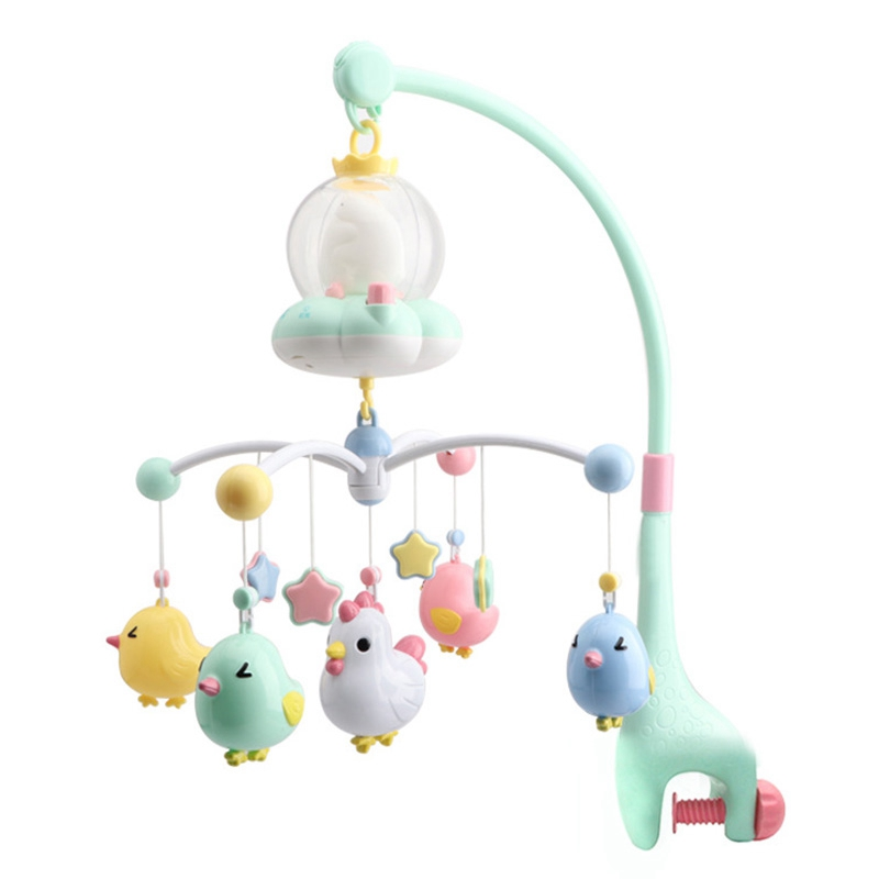 Baby Rattles Crib Mobiles Toy Holder Rotating Mobile Bed Bell Musical Box Projection 0-12 Months Newborn Infant Baby Toys