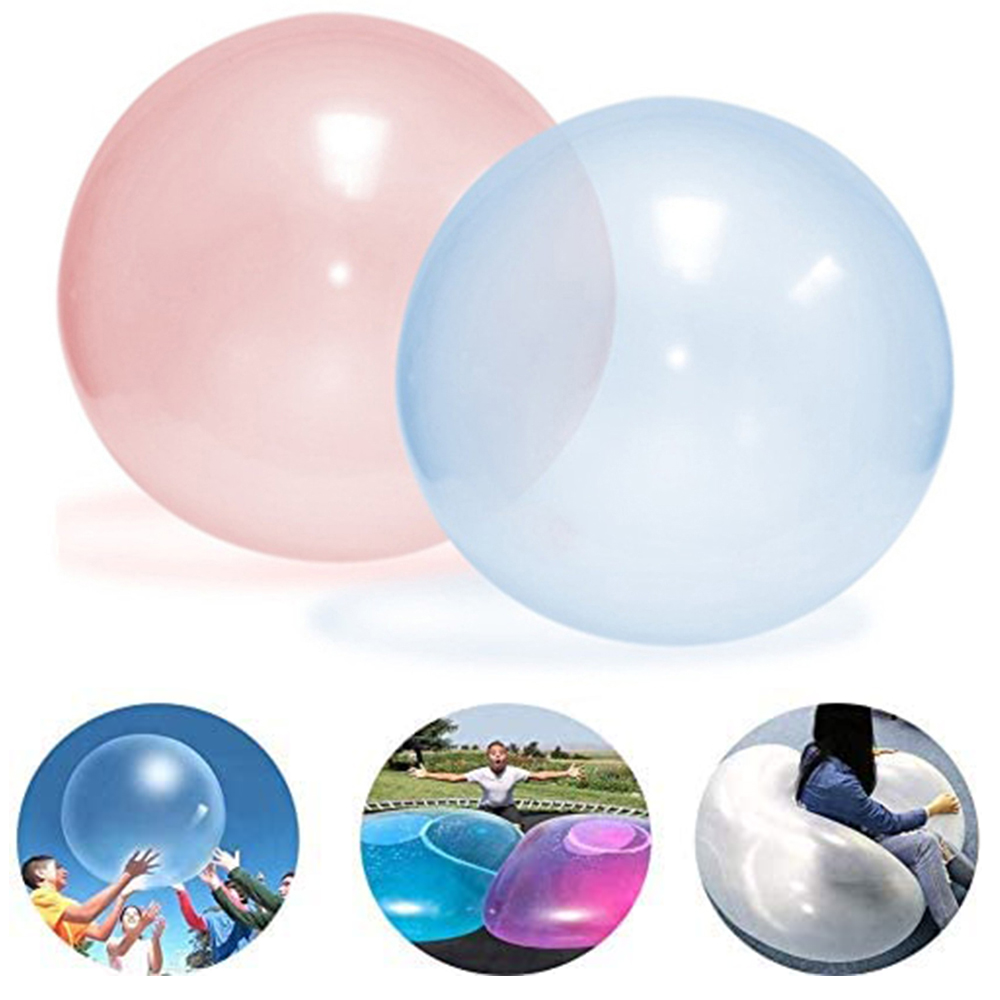 Kids Bubble Ball Balloon Indoor Outdoor Inflatable Ball Games Toys Soft Air Water Filled Bubble Ball Blow Up Balloon Toy