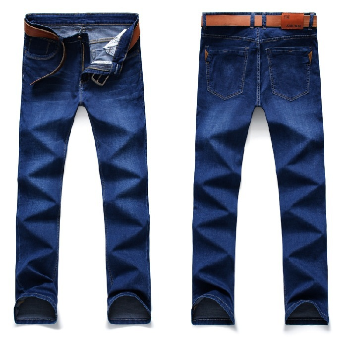 2019 Autumn New Style MEN'S Jeans Elasticity Straight-Leg Trousers MEN'S Trousers