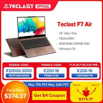 Teclast F7 Air Ultra Thin Laptop 14 inch Intel N4120 8GB LPDDR4 256GB SSD Notebook 1920x1080 FHD Windows 10 Computer 1.18KG 180° 1