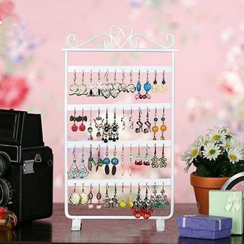 Rack Jewelry Organizer Stand Accessories Earring-Holder Base-Storage Wall-Frame Fashion title=