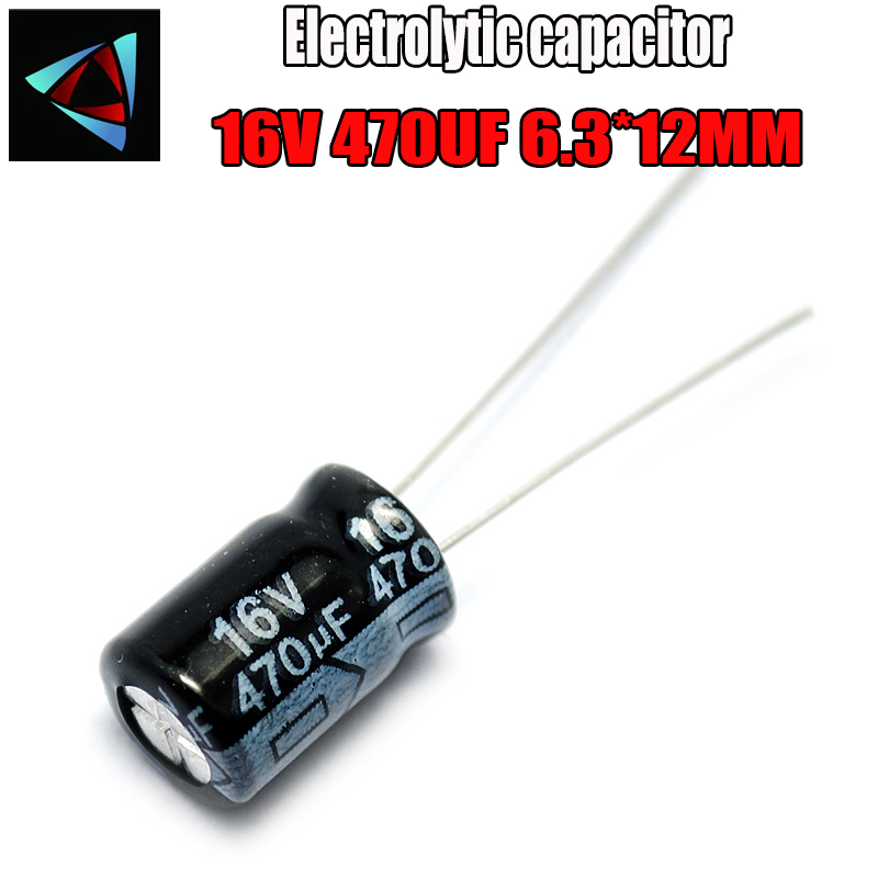 20PCS Higt Quality 16V 470UF 6.3-12mm 470UF 16V 6.3*12 Electrolytic Capacitor
