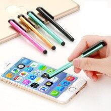 100 adet/grup kapasitif dokunmatik ekran Stylus kalem Samsung Galaxy için Ipad hava Mini iPhone Android telefon Tablet Metal StylusPen