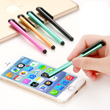 100Pcs/lot Capacitive Touch Screen Stylus Pen for Samsung Galaxy Ipad Air Mini iPhone Android Phone Tablet Metal StylusPen