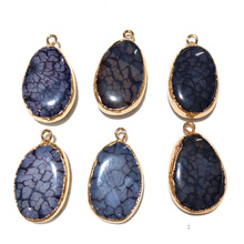 Wholesale 1 Pc Natural Stone Necklace Pendants Fashion Jewelry for Making Handmade Gifts Men Women