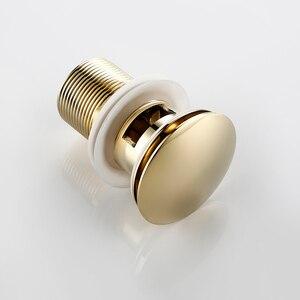 Image 3 - Smesiteli Bagno di Scarico Lucido Oro In Acciaio Inox Tubo di Acqua Filettato Perforato Cucina Lavello Spina