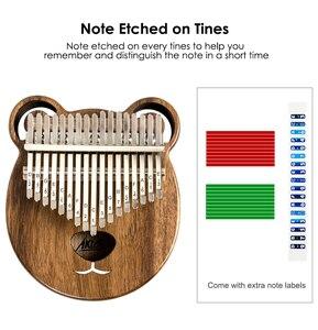 Image 5 - Aklot 17 клавиш Kalimba большой палец пианино из массива орехового дерева набор Marimba с чехлом для палочек сумка для настройки молотка буклет полные аксессуары