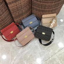 купить free shipping 2019 the new style gold rivet wide belt genuine sheepskin pretty fashion women handbag one shoulder bag 5 color по цене 6057.2 рублей