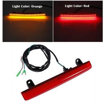Motorcycle Rear Trunk Spoiler LED Red/Orange Brake Light For Honda Goldwing 1800 01-17 02 03 04 05 06 07 08 09 10 11 12 13 14 15