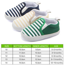 Casual baby shoes navy striped cotton sneakers children's shoes toddler shoes baby girl shoes baby Infant first walkers Shoes(China)