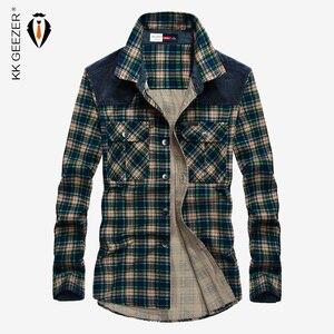 Image 1 - Camisa Hombre Plaid militar 100% algodón Manga larga 2019 Franela masculina Otoño Botones Camisas casuales Marca de lujo Vestido a cuadros de alta calidad Streetwear Camisas para hombre Camisa casual con botones