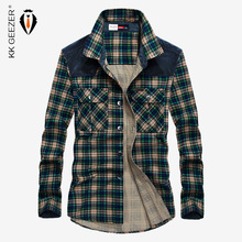 Shirt Men Military Plaid Dress 100% Cotton Long Sleeve Flannel Mens Shirts Casual Slim Fit Brand High Quality Dropshipping