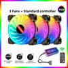 Coolmoon Starlight 6Pin RGB PC Case cooling Fan 12cm 5V ARGB CPU Cooler Fan support AURA SYNC with IR Remote Quiet Computer Case