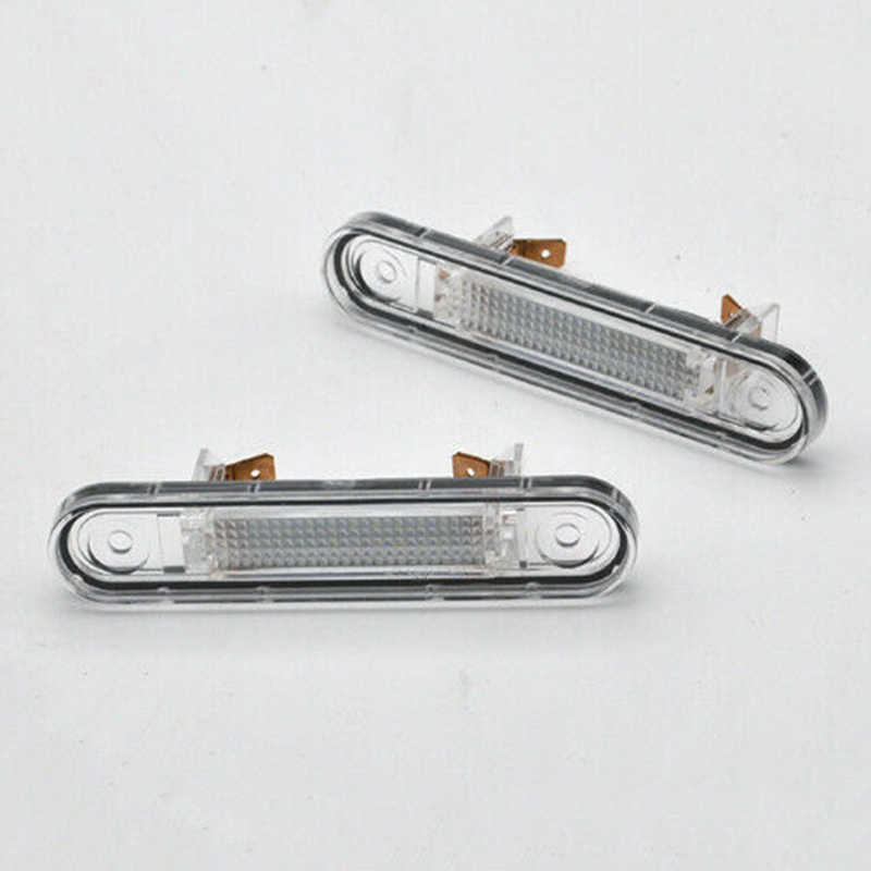 2x Canbus White LED License Plate Light For MERCEDES E W124 1984-1987 W201 W202