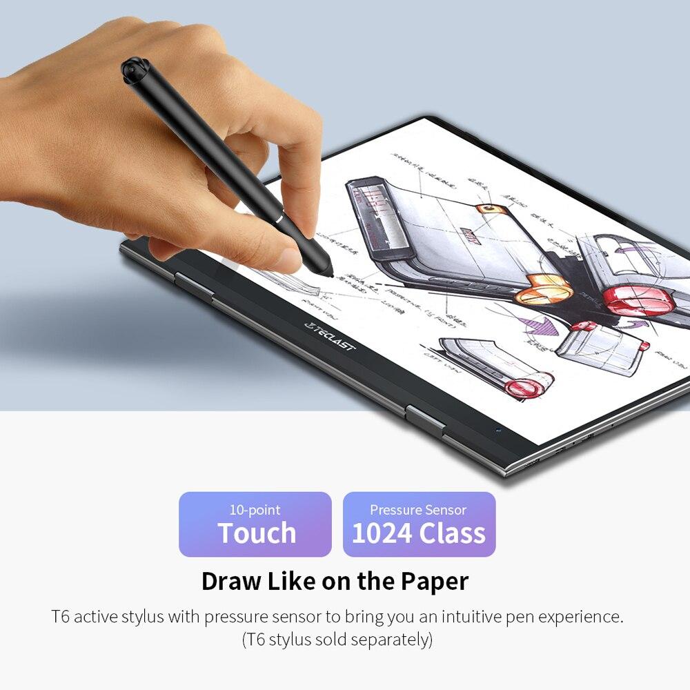 "Teclast F5 laptop Windows10 Notebook 11.6"" 8GB RAM 256GB SSD Intel Celeron N4100 IPS Touch Screen 360° Rotating 1920*1080 Type-C-2"