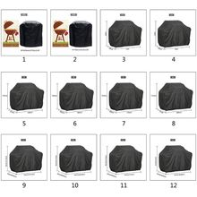 190T 210D BBQ Cover Outdoor Dust Waterproof Weber Heavy Duty Grill Cover Rain Protective Outdoor Barbecue Cover Round