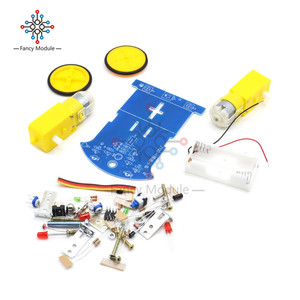 Image 2 - D2 1 سيارة روبوت الذكية مجموعات تتبع سيارة أجزاء روبوت حساس للضوء لتقوم بها بنفسك لعبة كهربائية