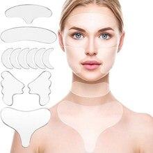 Coussinet en Silicone réutilisable pour la peau, 1/5/16 pièces, Anti-rides, Lifting, serrage, soin de la peau