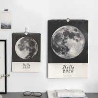 JIANWU marbre planète style 2020 calendrier bricolage lune calendrier mural Agenda quotidien 2019 planificateur Agenda annuel quotidien organisateur