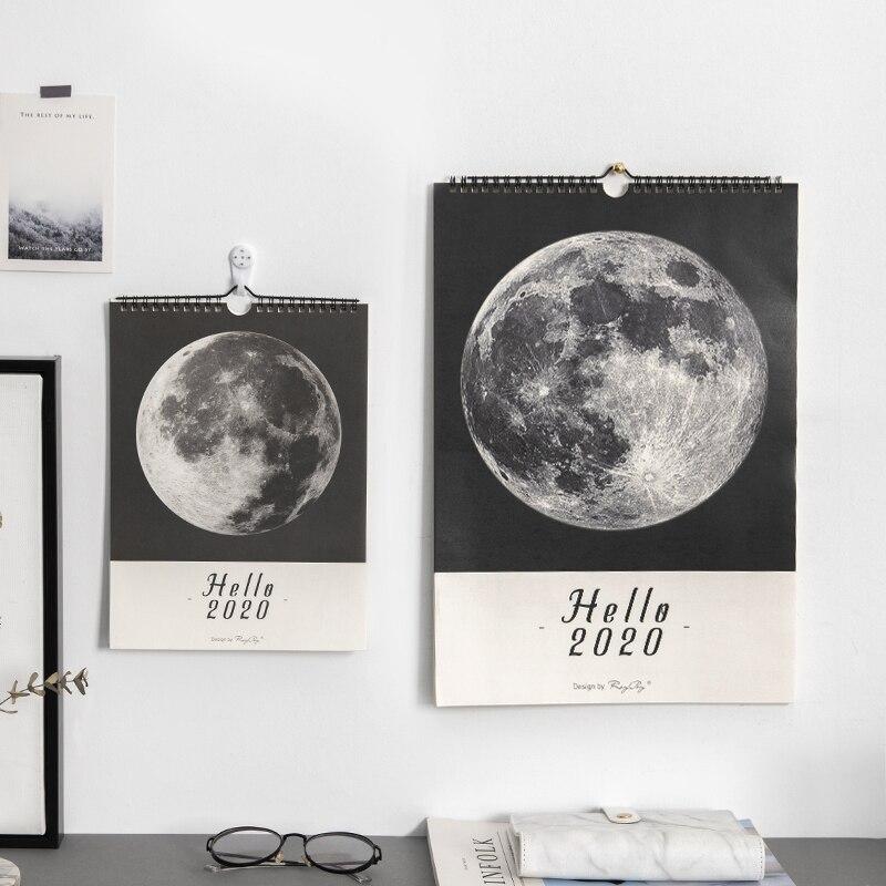 Jianwu mármore planeta estilo 2020 calendário diy lua calendários de parede programação diária 2019 planejador diário agenda anual organizador
