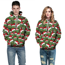 Casual 3D Christmas Print Hoodie Men Women 2019 Autumn New Long Sleeve Loose Harajuku Hoodies Sweatshirts new 2019 men 3d hoodies pineapple vegetable fruit men zipper hoodie washed casual men sweatshirts long sleeve pineapple hoodies
