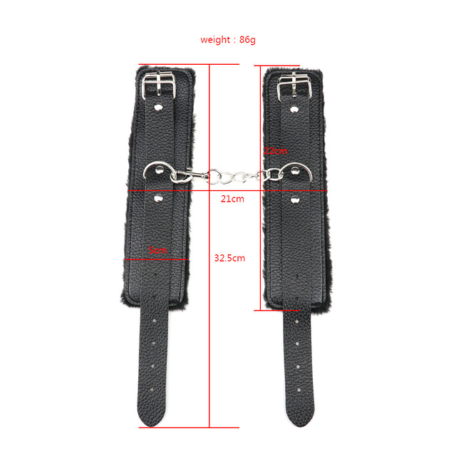 PU Leather Handcuffs For Sex Ankle Cuff Restraints Bondage Bracelet BDSM Woman Erotic Adult Cosplay Sex Toys For Couples Women