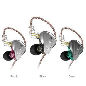 Image 3 - Kz zsx 1DD + 5BA 12ユニットハイブリッドin 耳イヤホンハイファイ金属ヘッドセット音楽スポーツkz ZS10プロAS12 AS16 zsnプロC12 DM7 as06 v90