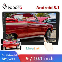 Podofo 9/10.1 2 din Android Car radio Multimedia Player 2 Din Universal Video MP5 Player auto Stereo GPS Bluetooth WIFI Audio