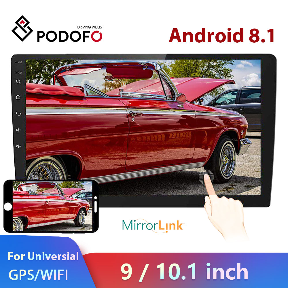 Podofo 9/10.1 2 din Android Car radio Multimedia Player 2 Din Universal Video MP5 Player auto Stereo GPS Bluetooth WIFI Audio image