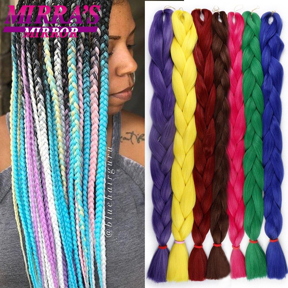 Мирра, зеркальная поверхность, заплетённые волосы Джамбо, коса наращивание волос желтый синтетические накладные волосы на крючке, затененн...