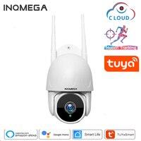 Telecamera INQMEGA TUYA PTZ Smart Cloud monitoraggio automatico esterno telecamera IP 1080P Google Home Alexa videosorveglianza telecamera di sicurezza CCTV