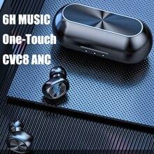 B5 TWS بلوتوث اللاسلكية سماعة 5.0 التحكم باللمس سماعات مقاوم للماء 9D سماعة رأس ستيريو الرياضة بلوتوث خوذة السمع
