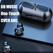 B5 TWS Bluetooth אלחוטי אוזניות 5.0 מגע בקרת אוזניות עמיד למים 9D סטריאו אוזניות ספורט Blutooth קסדת מכשיר שמיעה
