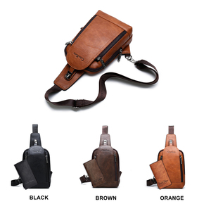 Image 4 - Celinv Koilm Men Crossbody Bag Big Size Daily Chest Bag High Quality Large Capacity Split Leather Daypacks Sling Bag For iPad